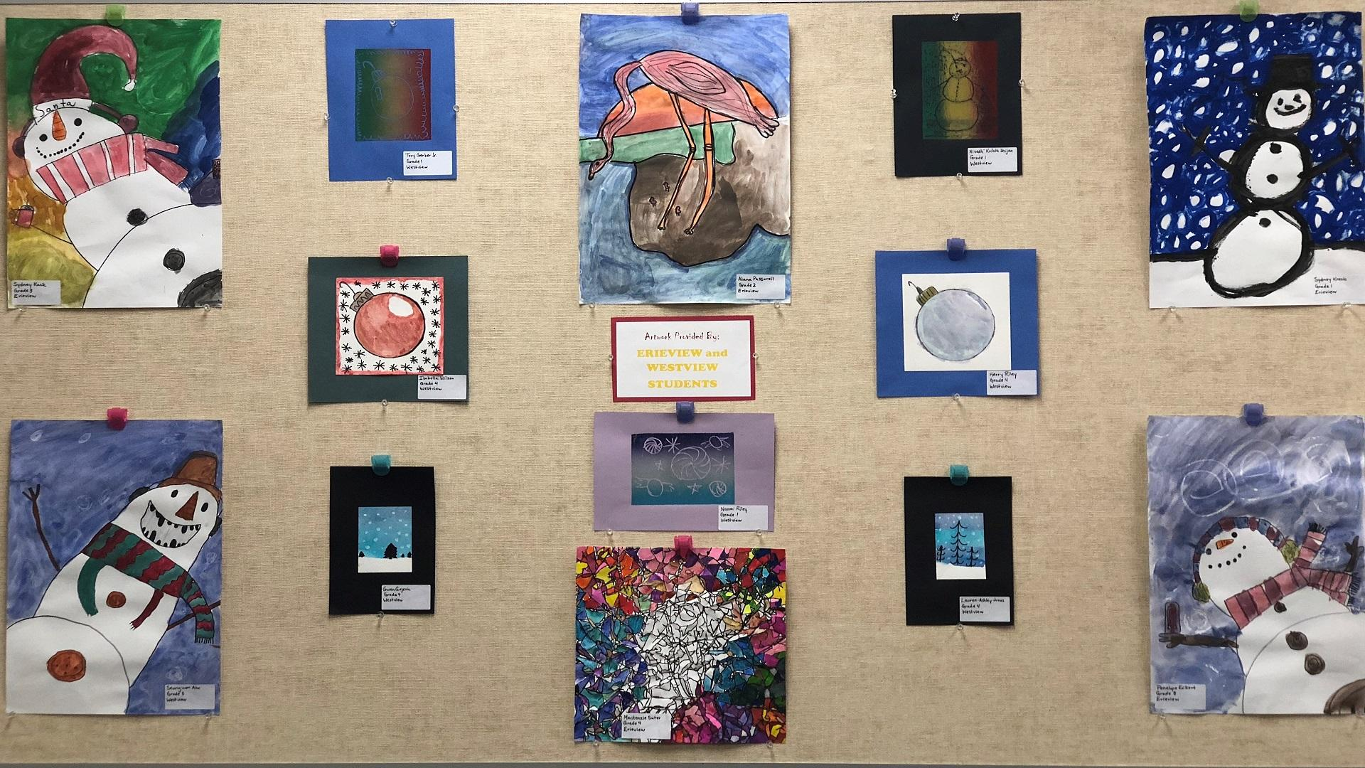 District Artwork by Westview and Erieview Students