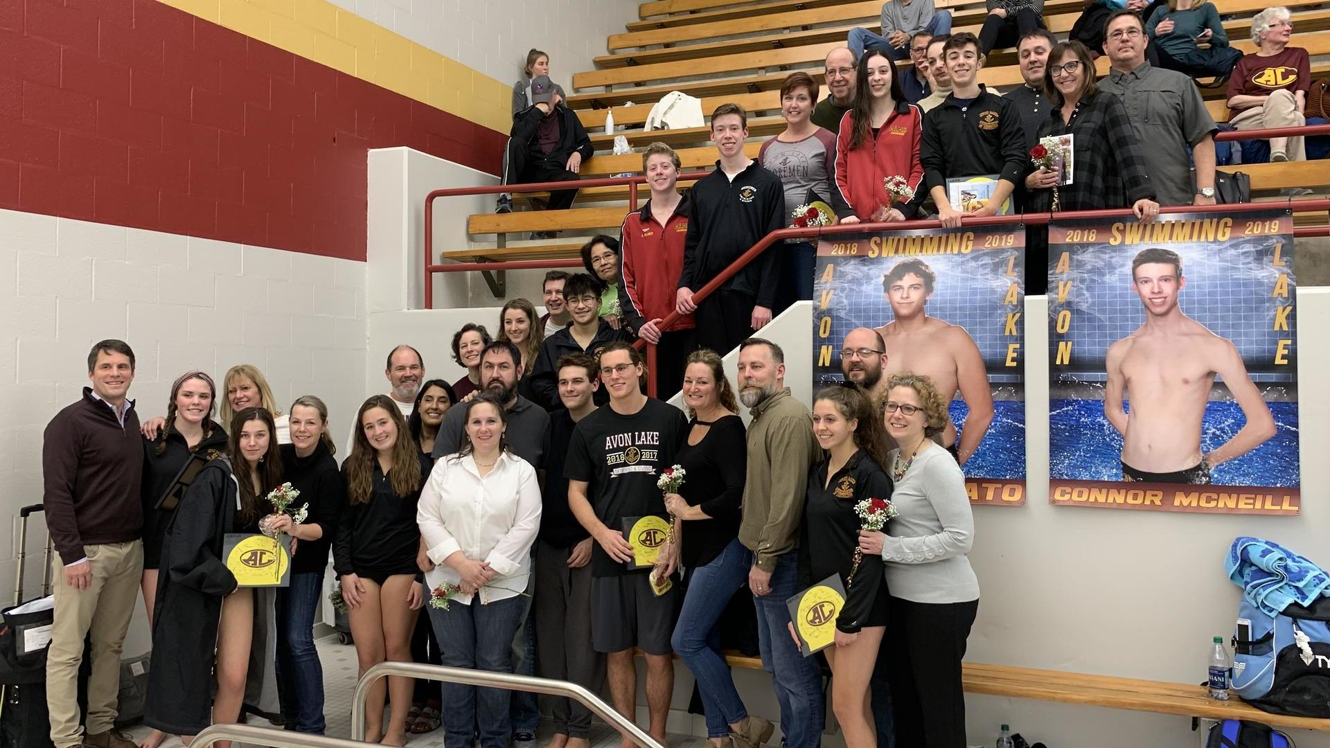 Swim Team Senior Night