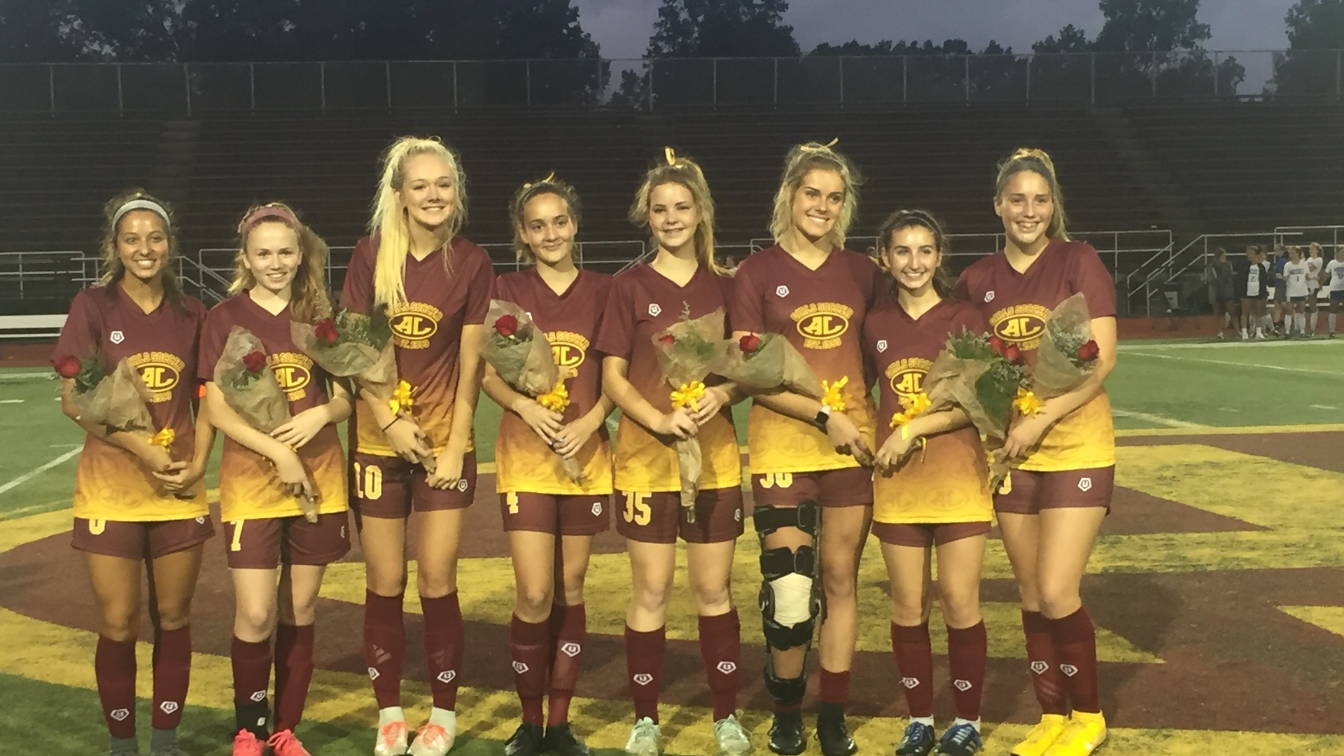 Senior Night for Girls Soccer 2018