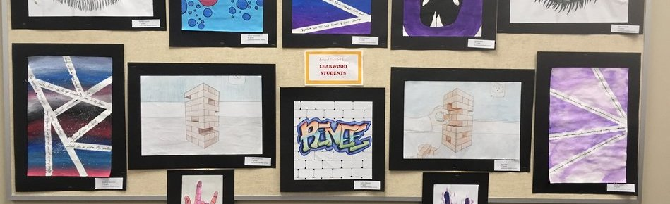 Learwood students artwork on display at BOE