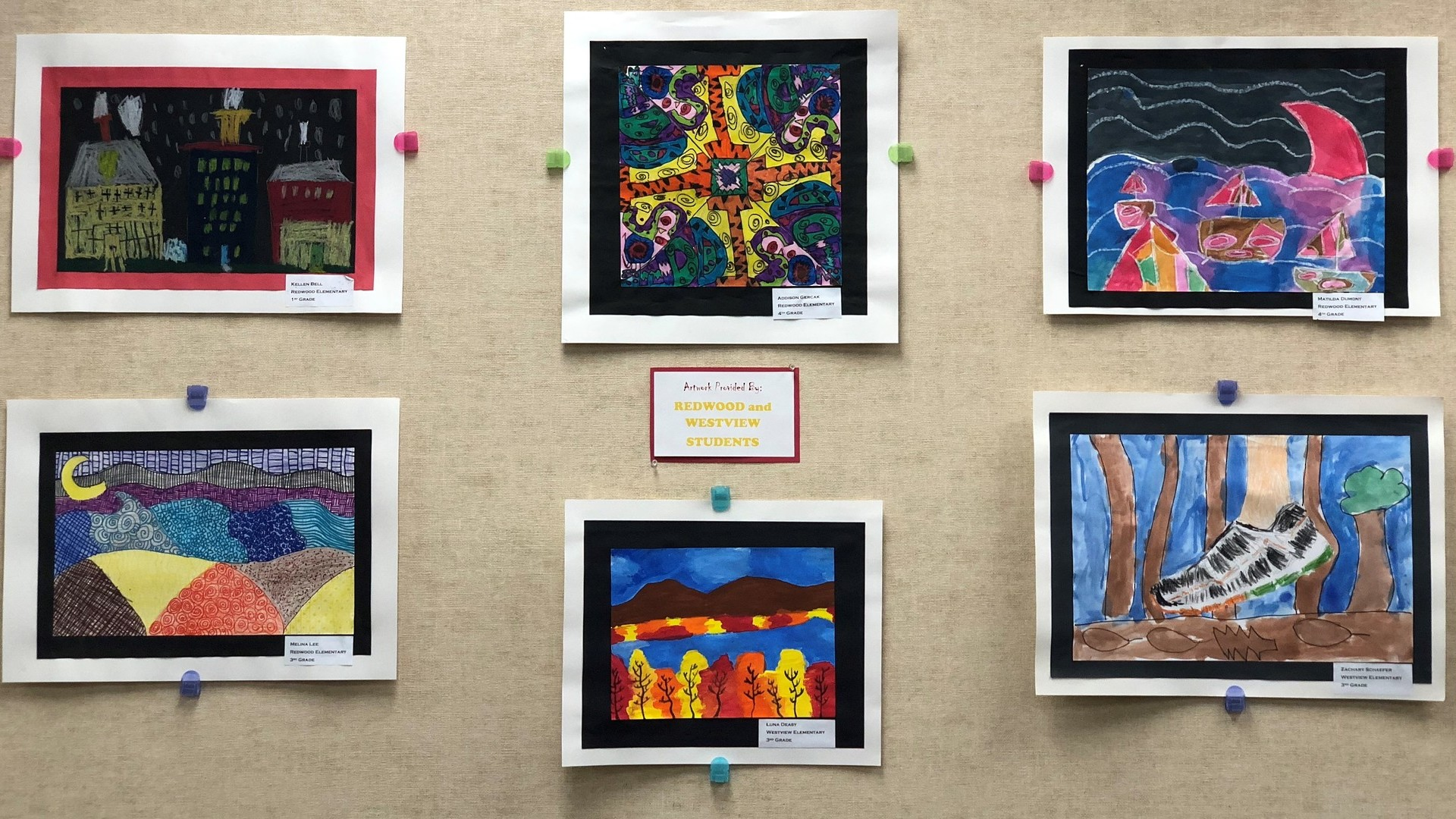 District Artwork by Redwood and Westview Elementary Students