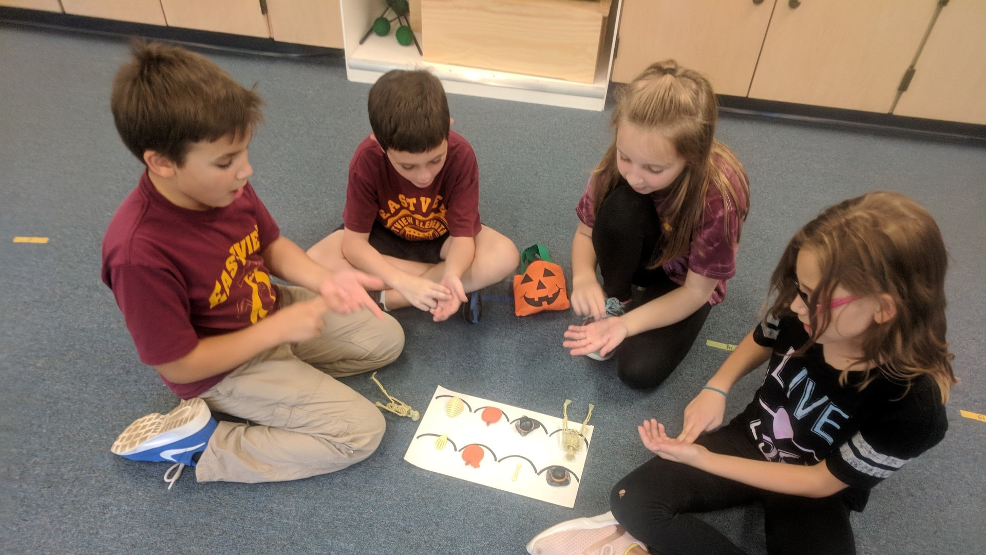 Students Playing Halloween Game