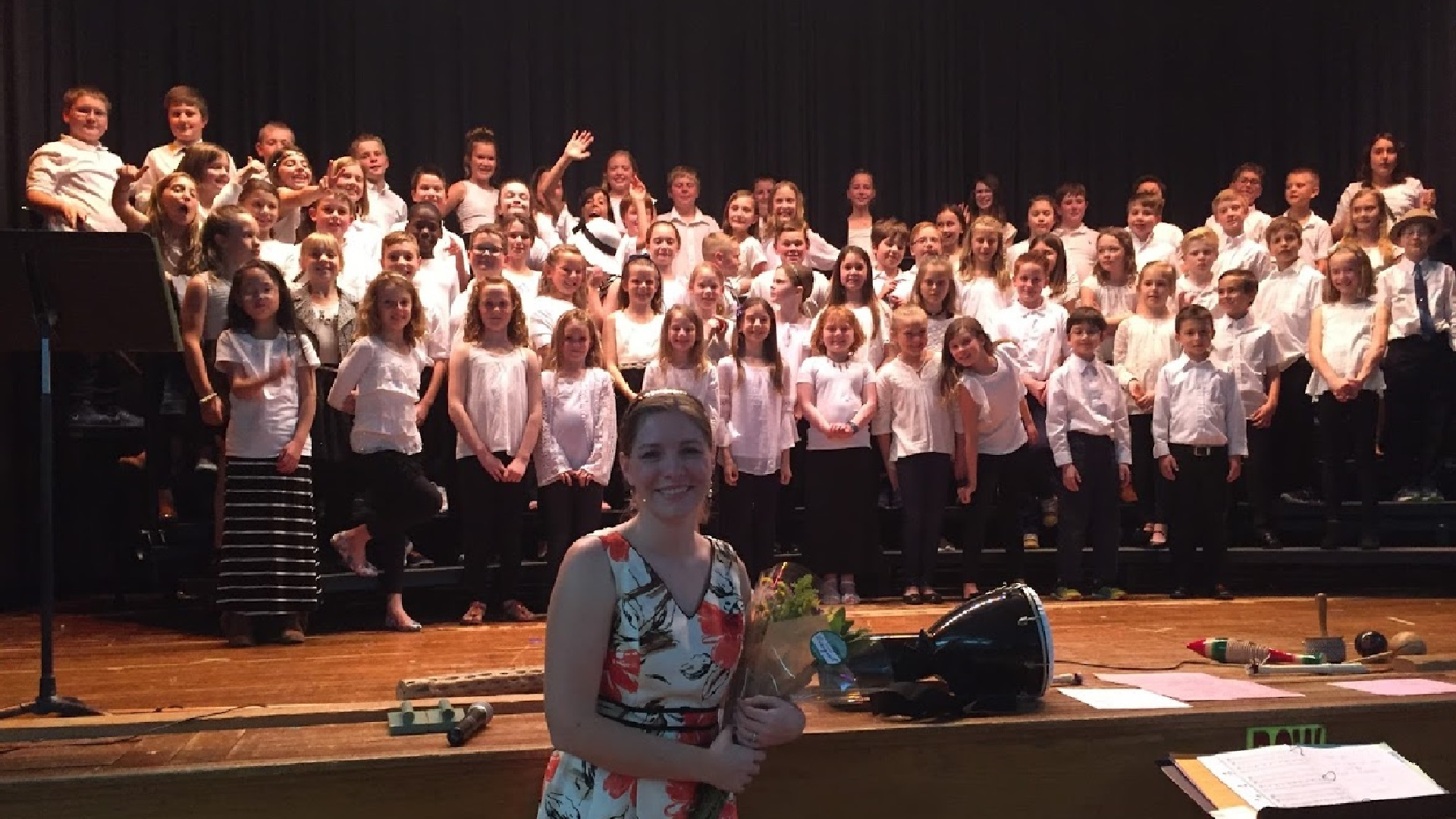 picture of the erieview choir and Mrs. Walker