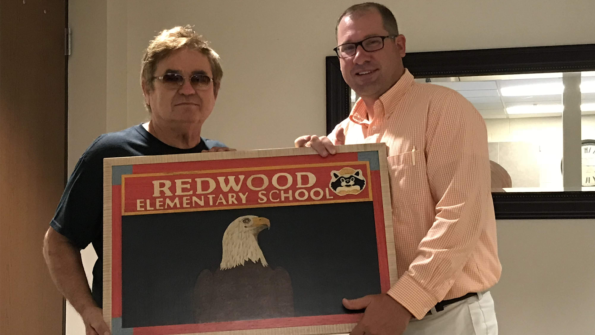 Mr. Ebert and Redwood Sign